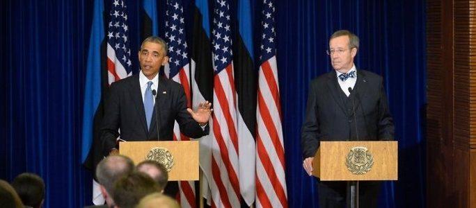 Эстония никогда не останется одна - Обама