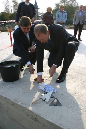Фото: Заложен краеугольный камень нового детского дома