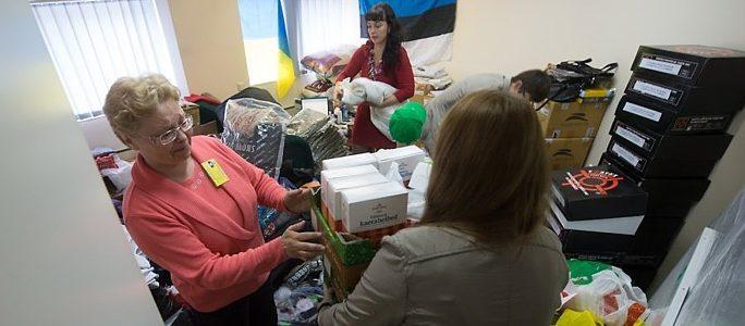 В Нарве открылся пункт приема гуманитарной помощи жителям Донбасса