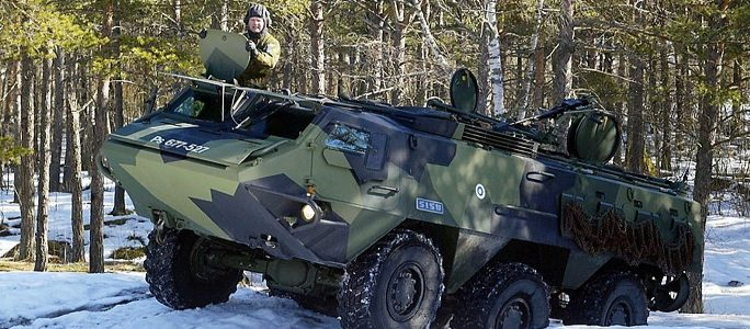В Эстонии столкнулись два БТРа