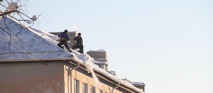 Чиновники по охране порядка ищут сосульки на крышах