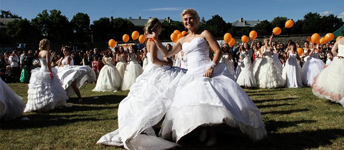 Видео. Дневник акции. Танец невест