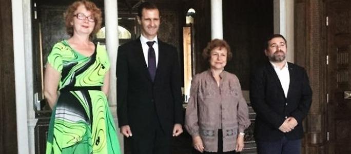 Яна Тоом встретилась в Дамаске с президентом Сирии Башаром Асадом