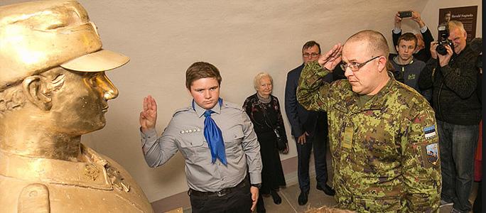МИД России осудил открытие бюста Харальду Нугисексу в одной из школ Эстонии