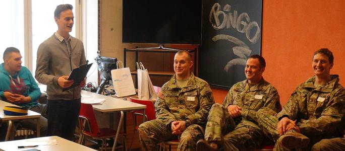 Видео. Американские солдаты пришли в гости к студентам НКТУ