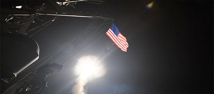 США нанесли ракетный удар по базе сирийской армии в Хомсе