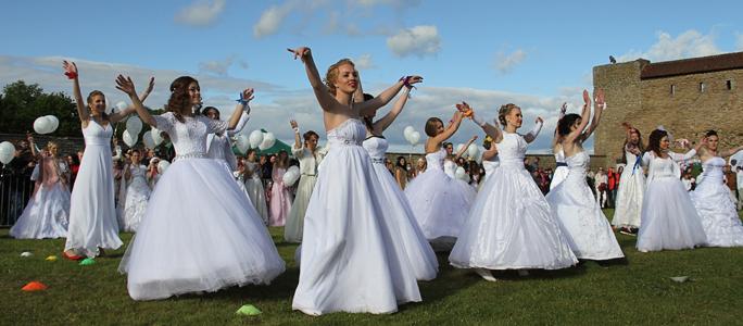 Видео. Танец невест