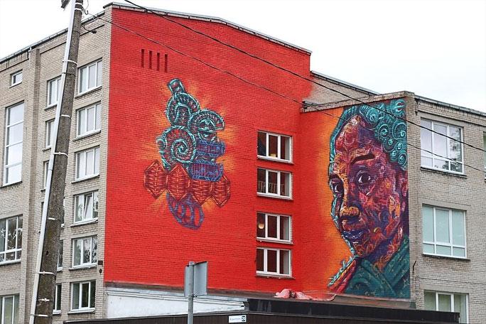 Художник из Мексики, ожививший Нарву настенной фреской