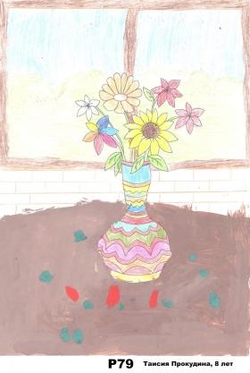 Первая группа работ, присланная на конкурс «Букет любимому учителю»
