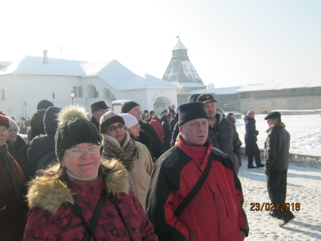 Нарвитяне посетили Псков в 100-летний юбилей Красной Армии
