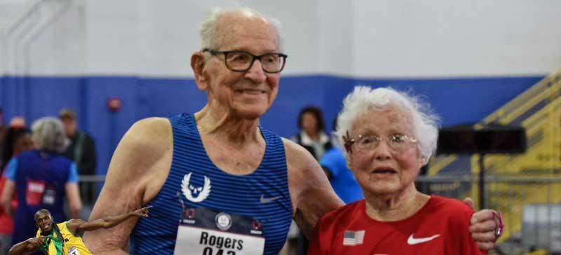 Столетние легкоатлеты установили два рекорда в спринте