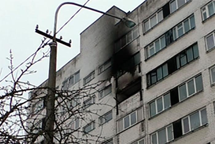 Пожар в Нарве на Таллиннском шоссе. Видео
