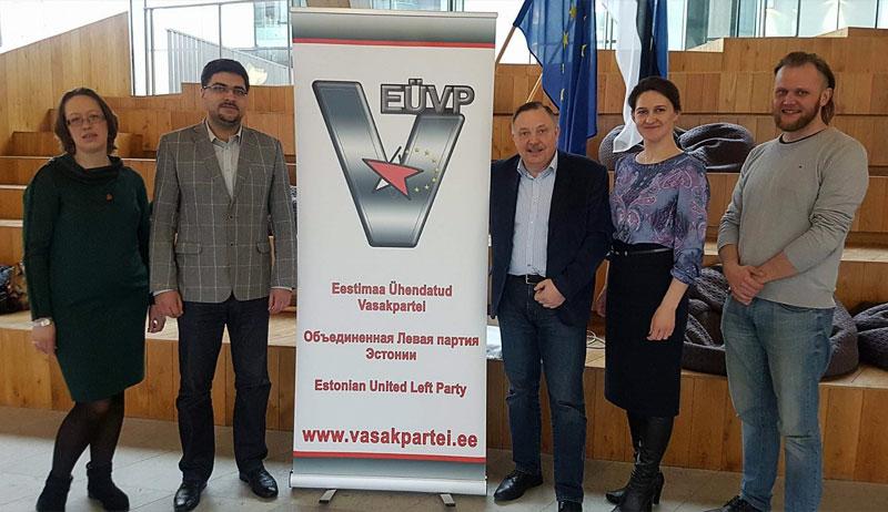 Нарве состоялась встреча с активом Объединённой Левой партии Эстонии