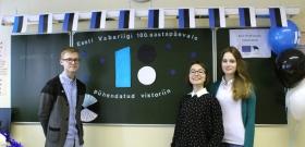 Викторина к 100-летию ЭР не стала для нарвских гимназистов «крепким орешком»