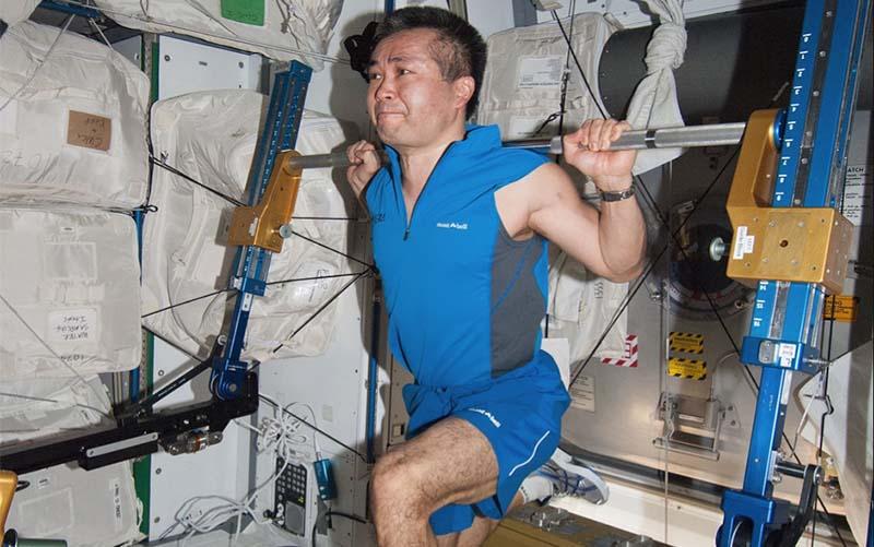 Космонавтов заставят поднимать штангу в невесомости