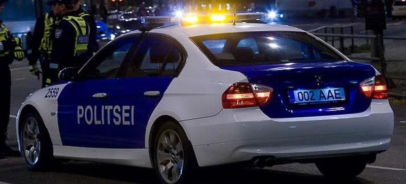 В Нарве сотрудники полиции легко пострадали при задержании нетрезвого водителя