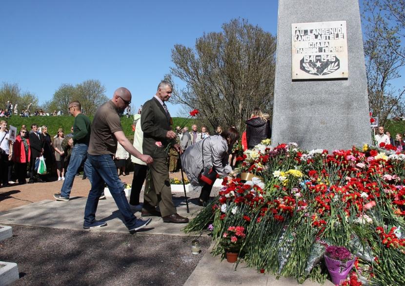 Галерея. Возложение цветов к Братской могиле