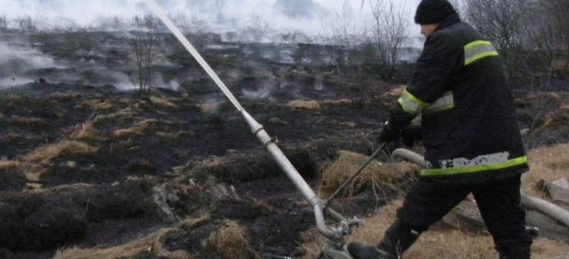 В Тойла вспыхнул пожар на бывших торфяных полях