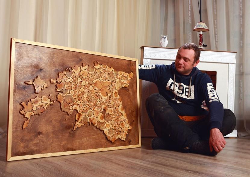 Своеобразие Эстонии подчеркнула карта из можжевельника