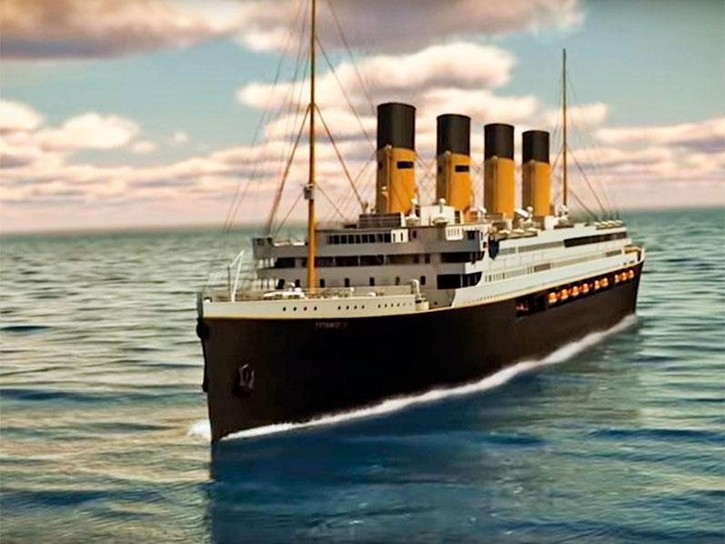 """Новый """"Титаник"""" отправится в рейс спустя 110 лет после легендарного крушения (ВИДЕО)"""