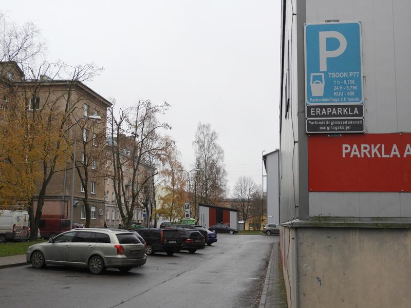 Часть парковок в Нарве стала платной