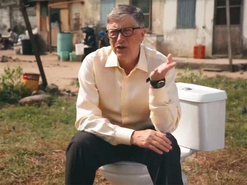 Билл Гейтс представил работающий без воды унитаз (ВИДЕО)