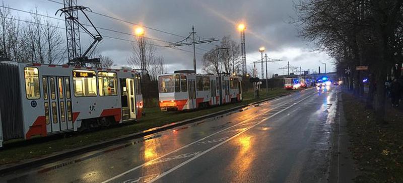 В столкновении двух трамваев в Таллинне пострадали четыре человека