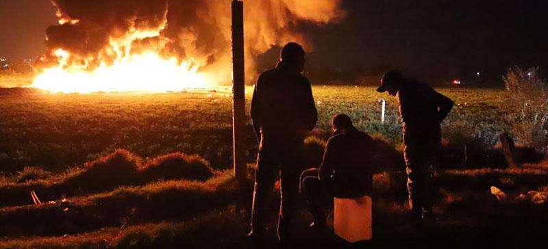 Число жертв взрыва и пожара на трубопроводе в Мексике достигло 100 человек