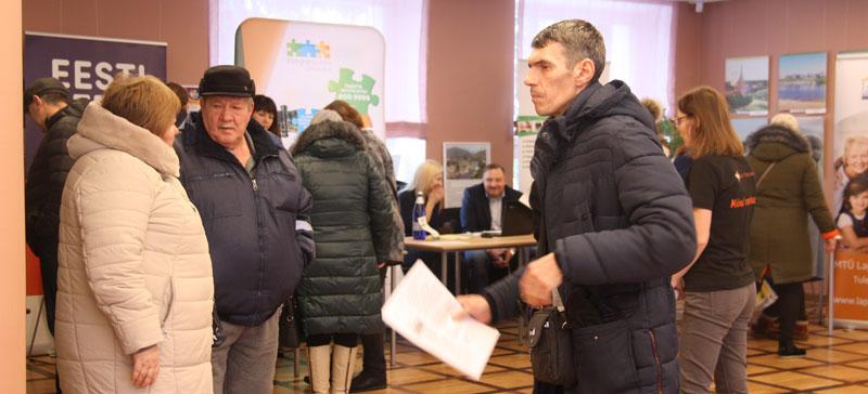 Ярмарка труда в Нарве:  вакансии искали и безработные,  и работающие