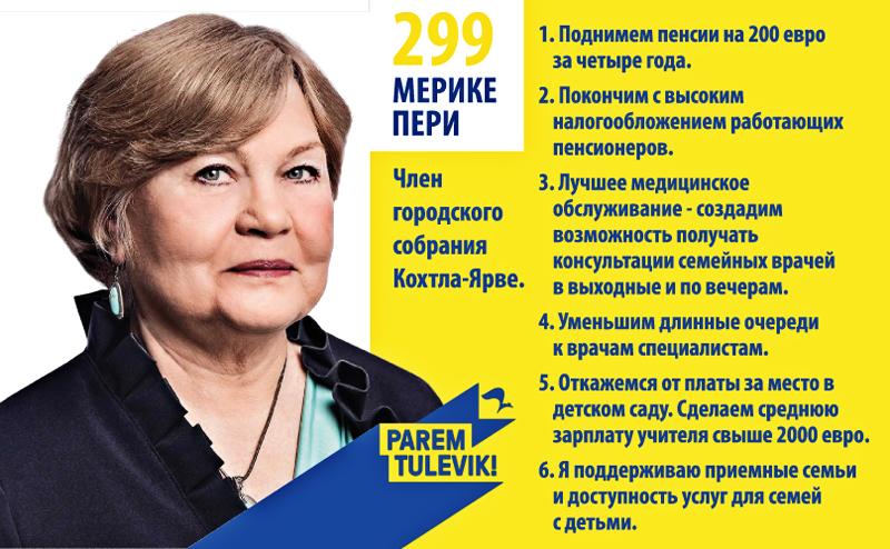 Партия реформ (299 MERIKE PERI Ида-Вирумаа)