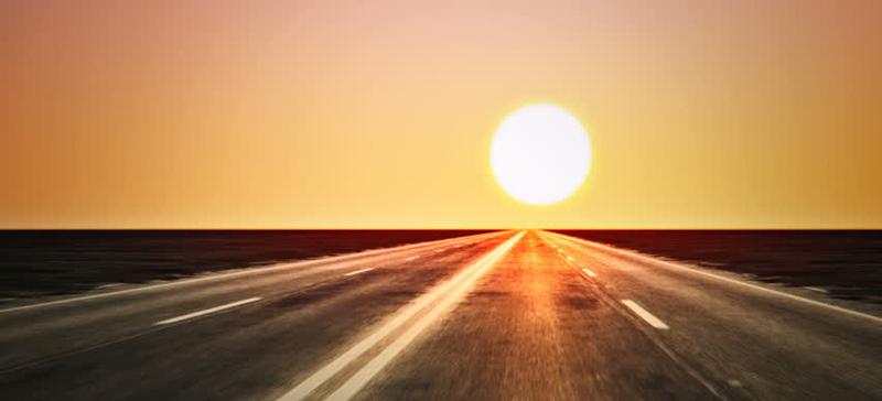 Внимание: яркое солнце мешает водителям