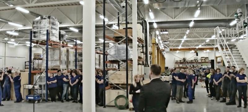 В Нарве открылось новое производственное здание завода Waldchnep