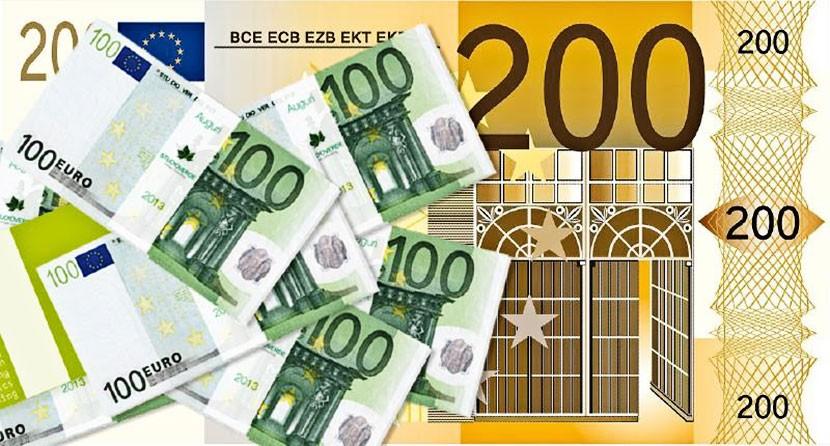 Банк Эстонии выпустит в обращение новые купюры достоинством 100 и 200 евро