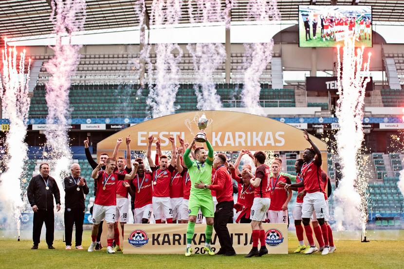 Впервые за 18 лет Кубок Эстонии по футболу - в Нарве!