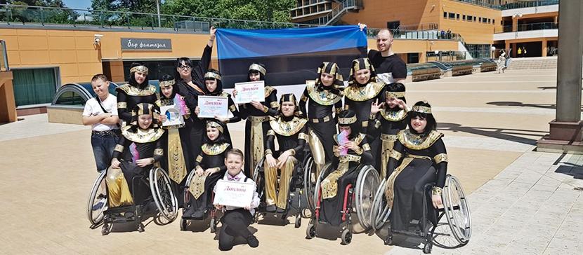 Нарвские танцоры на колясках привезли из Сочи победу