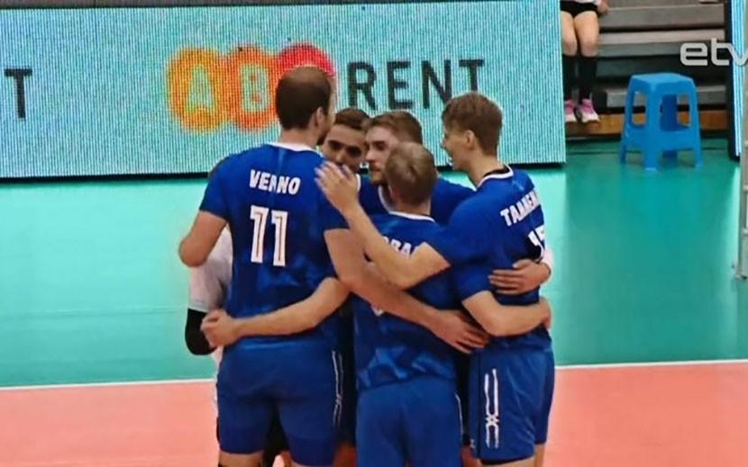 Эстонские волейболисты одержали первую победу в Золотой лиге