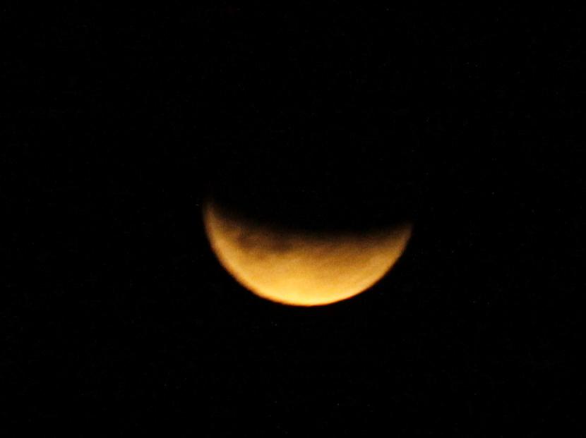 В Эстонии было видно лунное затмение