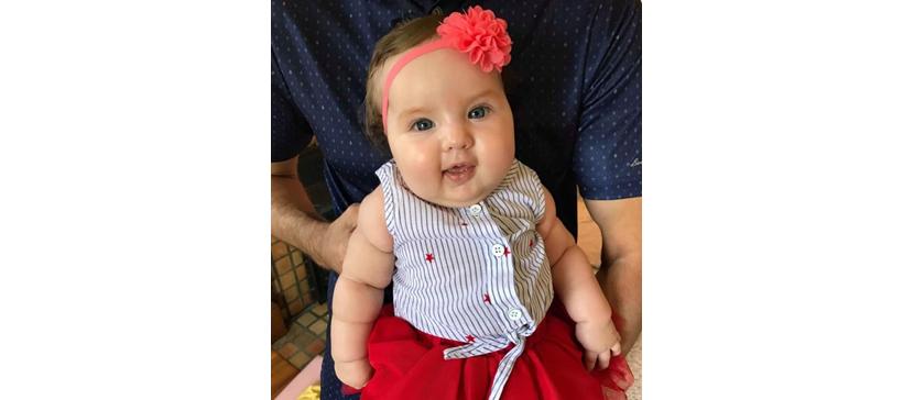 Маленькой Аннабель исполнилось пять месяцев и у нее все хорошо