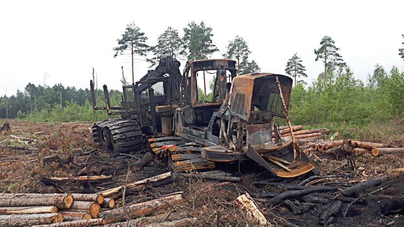 Cумма страховых возмещений за случаи возгорания лесной техники составила около 126 000 евро