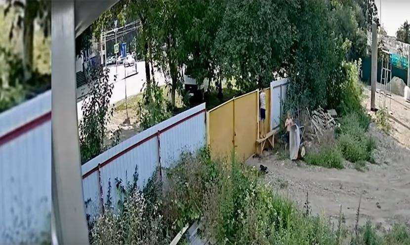 Видео кражи садовой тачки подростками стало хитом в Сети