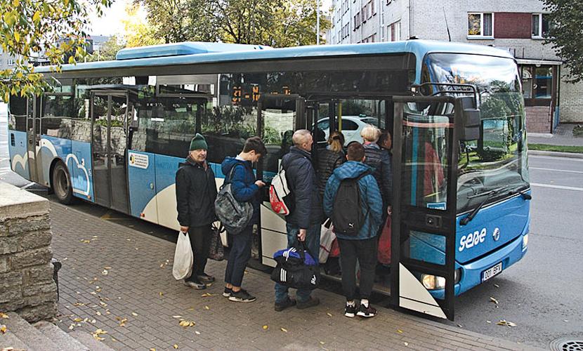 На автобусных линиях Нарвы вводится зимнее расписание