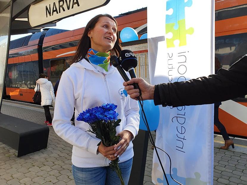 + Галерея. Поезд эстонского языка  совершил первый рейс через Нарву