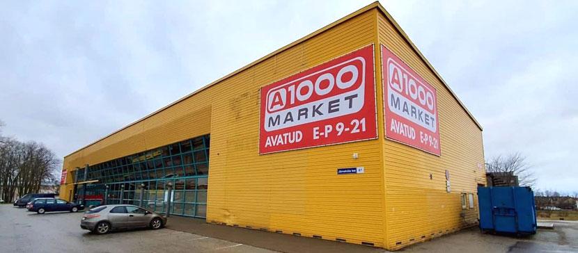 В Кохтла-Ярве открылся магазин A1000 Market. Других арендаторов в здании не будет!