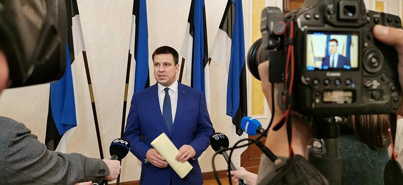 Премьер-министр Юри Ратас сообщил об уходе в отставку