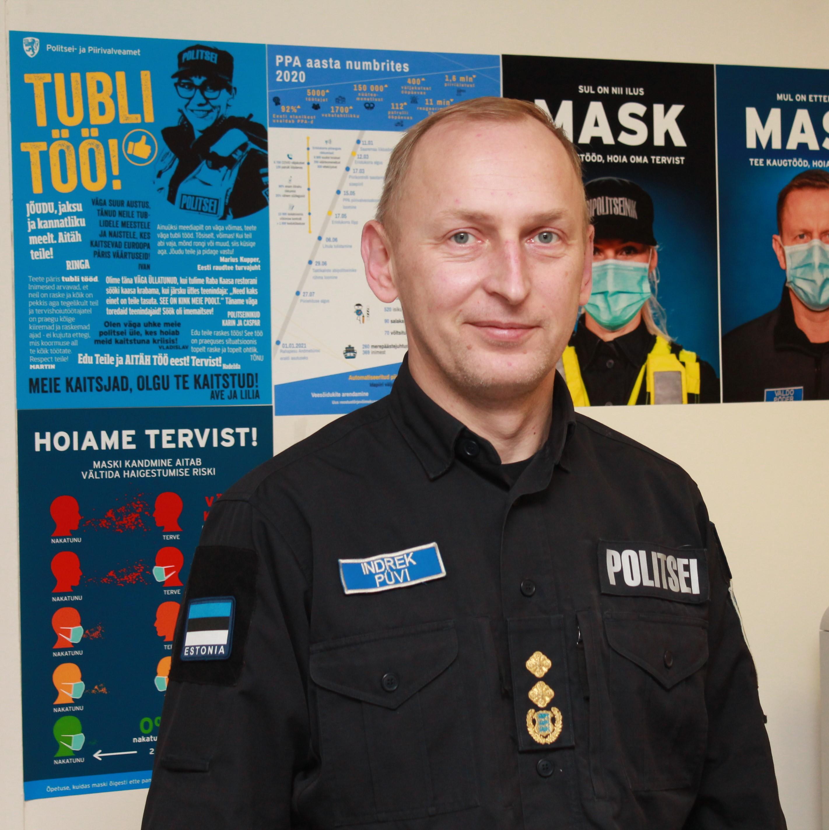 Новый глава Нарвского отделения полиции: улицы нашего города безопасны