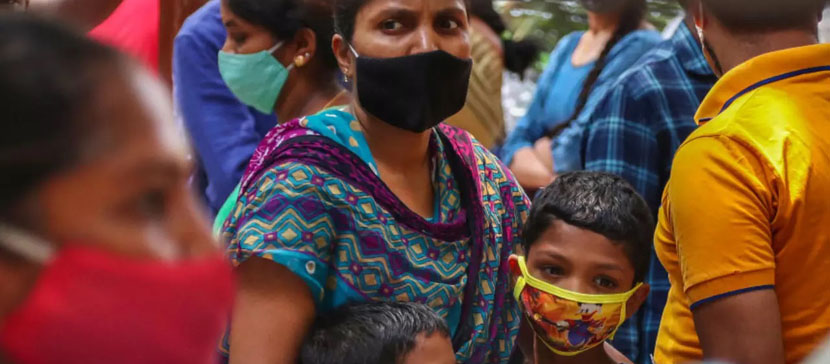 Общее число заразившихся коронавирусом в Индии приблизилось к 20 млн