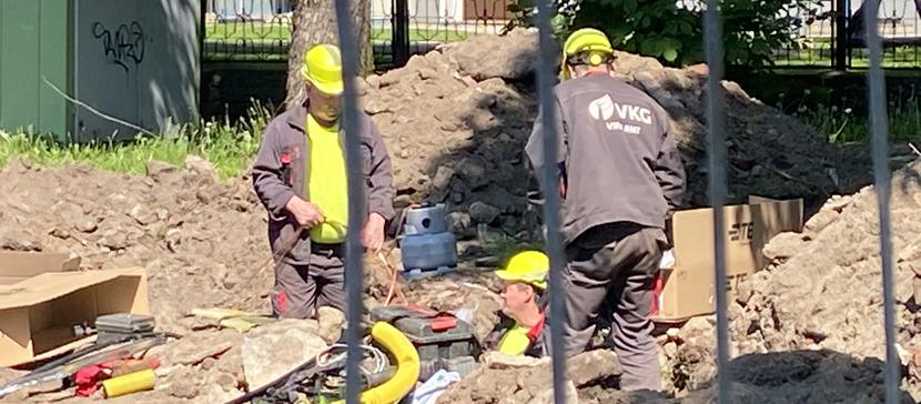 В понедельник строители обесточили центр Нарвы